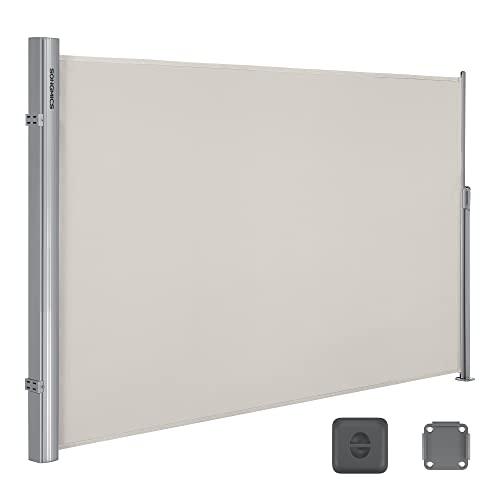 Songmics Seitenmarkise 180 x 350 cm beige