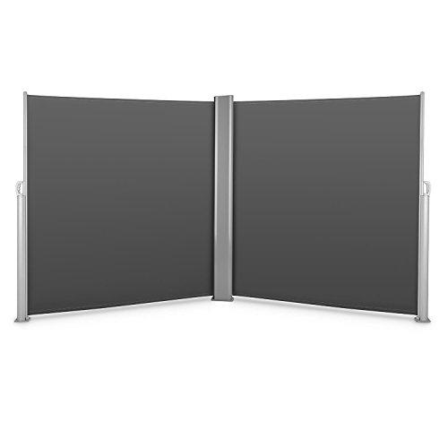 Blumfeldt Bari Doppio 620 Doppel-Seitenmarkise 600 x 200cm anthrazit