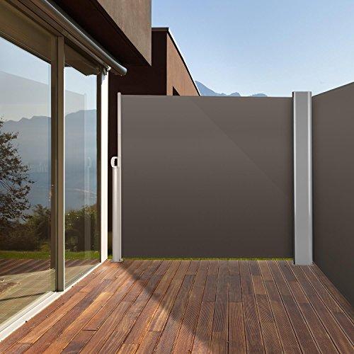 Blumfeldt Bari Doppio 620 Doppel-Seitenmarkise 600 x 200cm anthrazit - 2