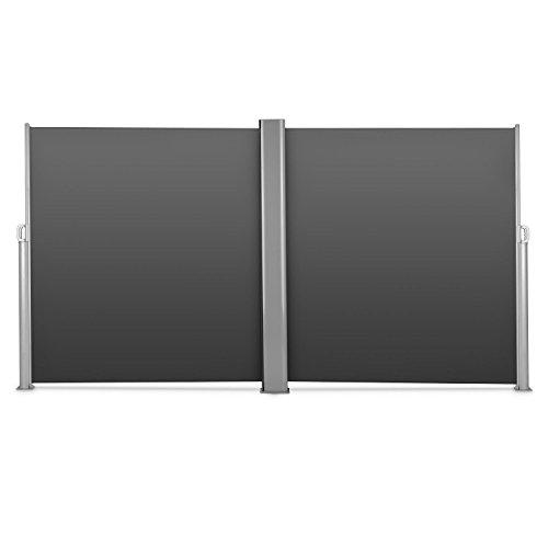 Blumfeldt Bari Doppio 620 Doppel-Seitenmarkise 600 x 200cm anthrazit - 3