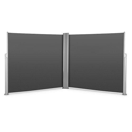 Blumfeldt Bari Doppio 618 Doppel-Seitenmarkise 600 x 180cm anthrazit