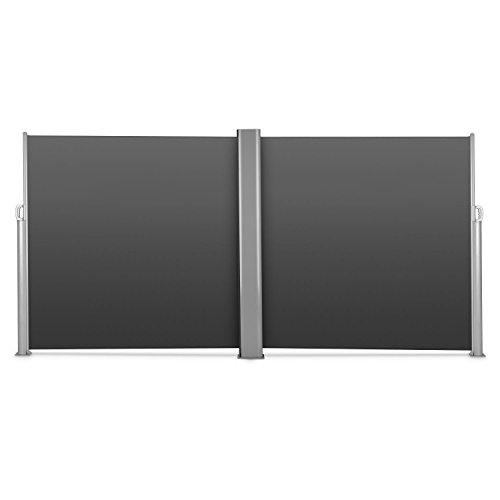 Blumfeldt Bari Doppio 618 Doppel-Seitenmarkise 600 x 180cm anthrazit - 3