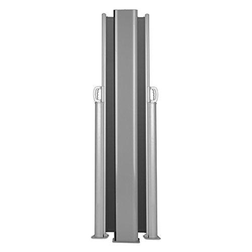 Blumfeldt Bari Doppio 618 Doppel-Seitenmarkise 600 x 180cm anthrazit - 7