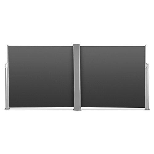 Blumfeldt Bari Doppio 616 Doppel-Seitenmarkise 600 x 160cm anthrazit - 6