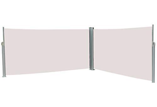 Vanvilla Doppel Seitenmarkise Beige 160x600 cm
