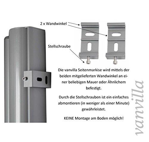 Vanvilla Seitenmarkise Anthrazit 160×300 cm - 3