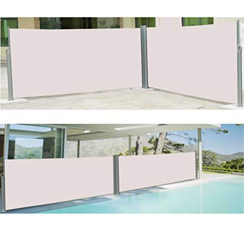 Vanvilla Doppel Seitenmarkise Beige 200×600 cm - 8