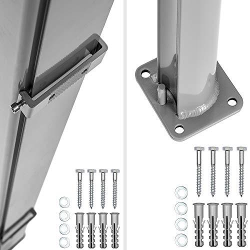 TecTake Seitenmarkise Grau 200×300 cm - 6