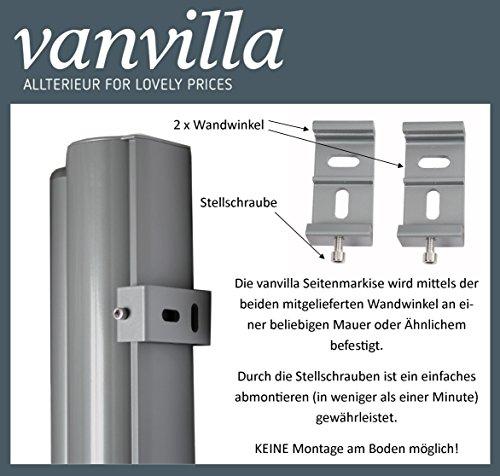 Vanvilla Seitenmarkise Anthrazit 180×300 cm - 2