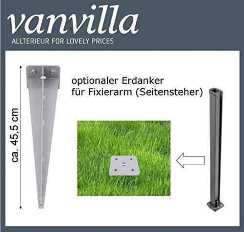 Vanvilla Seitenmarkise Anthrazit 180×300 cm - 6