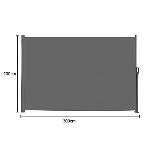 SVITA Seitenmarkise 200 x 300 cm Schwarz/Anthrazit - 3