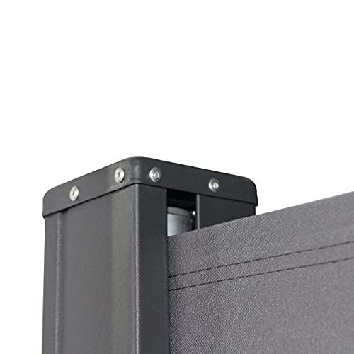 SVITA Seitenmarkise 200 x 300 cm Schwarz/Anthrazit - 6