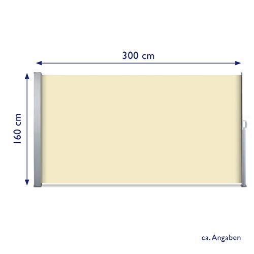 SVITA Seitenmarkise 160 x 300 cm Beige - 5