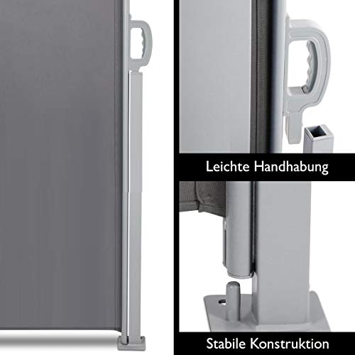 SVITA Seitenmarkise 160 x 300 cm Schwarz/Anthrazit - 4