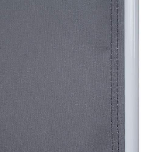 SVITA Seitenmarkise 160 x 300 cm Schwarz/Anthrazit - 5