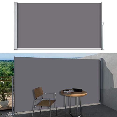 SVITA Seitenmarkise 180 x 300 cm Schwarz/Anthrazit