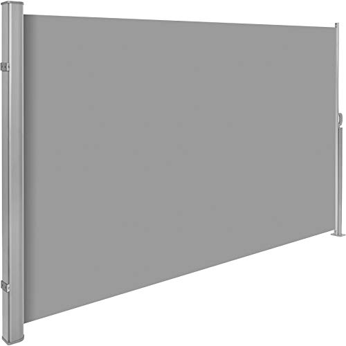 TecTake Seitenmarkise Grau 160x300 cm