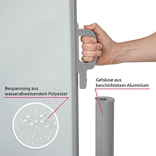 TecTake Doppel-Seitenmarkise Grau 180×600 cm - 7