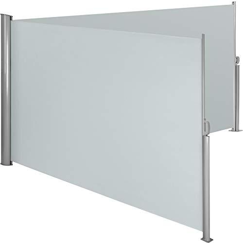 TecTake Doppel-Seitenmarkise Grau 200x600 cm