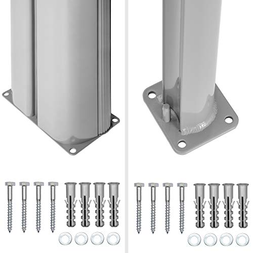 TecTake Doppel-Seitenmarkise Grau 200×600 cm - 7