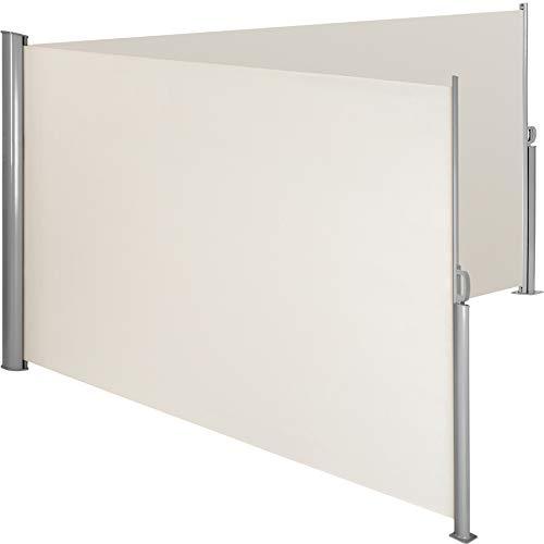 TecTake Doppel-Seitenmarkise Beige 180x600 cm
