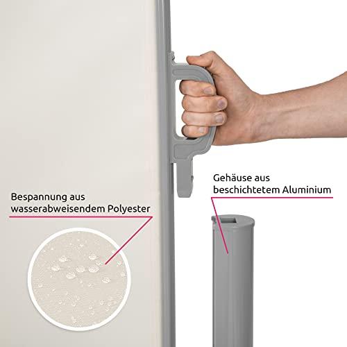 TecTake Doppel-Seitenmarkise Beige 180×600 cm - 7