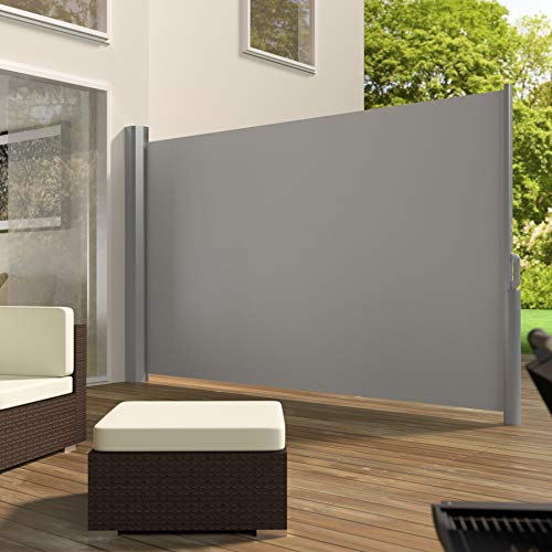 TecTake Seitenmarkise Grau 180×300 cm - 2