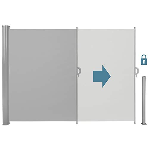 TecTake Seitenmarkise Grau 180×300 cm - 3