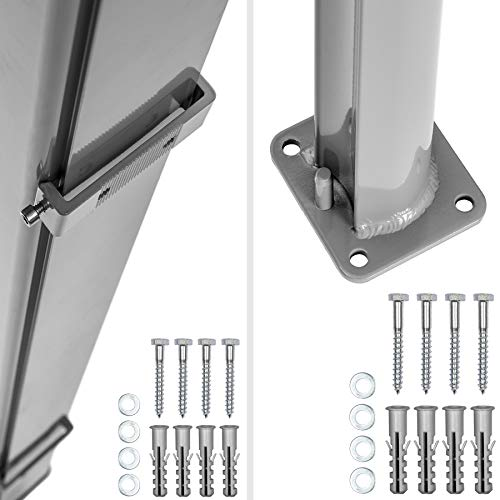 TecTake Seitenmarkise Grau 180×300 cm - 6