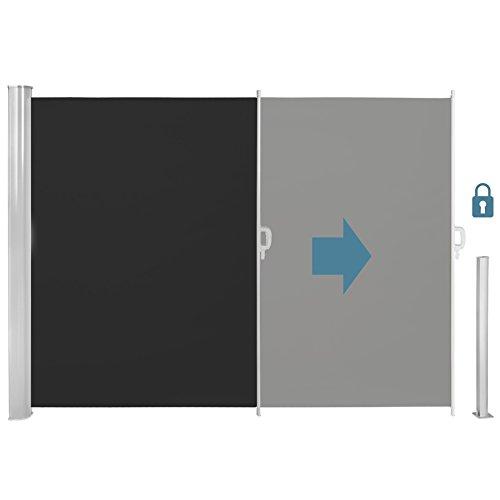 TecTake Seitenmarkise Schwarz 160×300 cm - 3