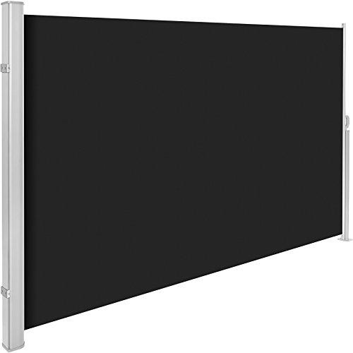 TecTake Seitenmarkise Schwarz 180x300 cm