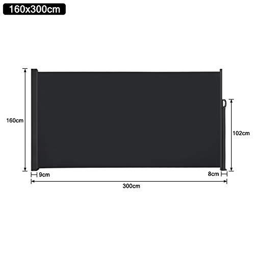 SAILUN® Seitenmarkise 160 x 300 cm Anthrazit - 6