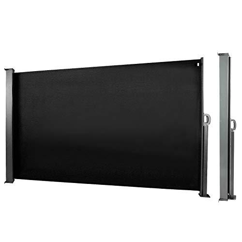 CCLIFE Seitenmarkise Schwarz 180x300 cm