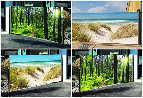 Seitenmarkise mit Fotodruck Ostsee 160 x 300 cm