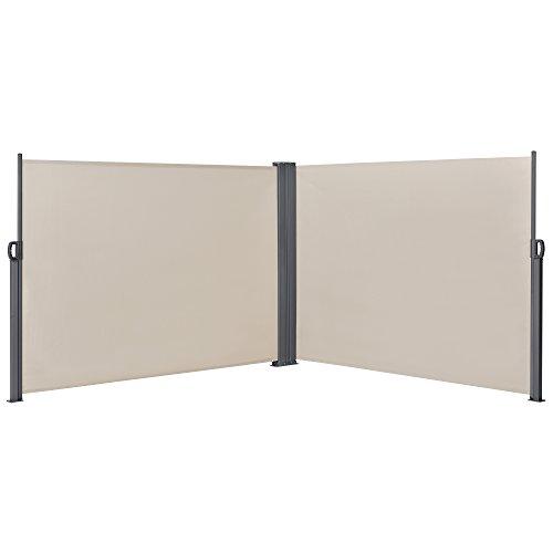 [pro.tec] Doppelte Seitenmarkise 160 x 600 cm Beige - 2
