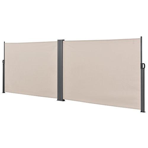 [pro.tec] Doppelte Seitenmarkise 160 x 600 cm Beige - 3