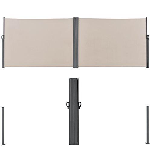 [pro.tec] Doppelte Seitenmarkise 160 x 600 cm Beige - 4