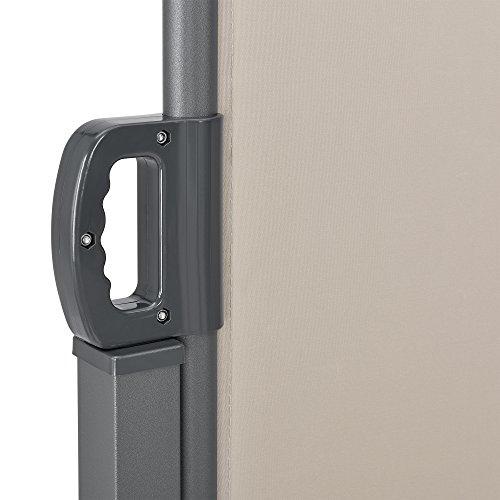 [pro.tec] Doppelte Seitenmarkise 160 x 600 cm Beige - 6
