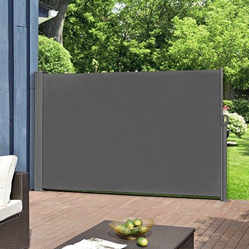 [pro.tec] Seitenmarkise 160 x 300 cm Grau