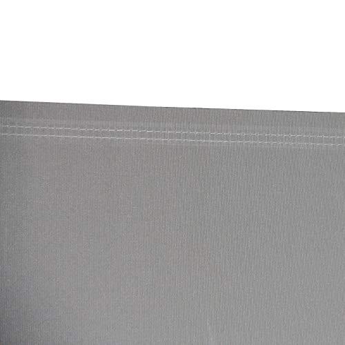 SVITA Doppel Seitenmarkise Sichtschutz Sonnenschutz ausziehbar 600x180cm Hellgrau - 5
