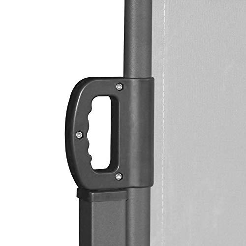SVITA Doppel Seitenmarkise Sichtschutz Sonnenschutz ausziehbar 600x180cm Hellgrau - 6