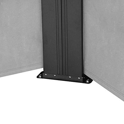 SVITA Doppel Seitenmarkise Sichtschutz Sonnenschutz ausziehbar 600x180cm Hellgrau - 7