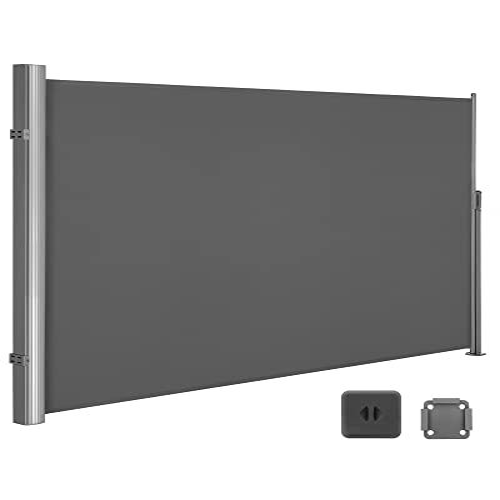 SONGMICS Seitenmarkise 180 x 400 cm grau