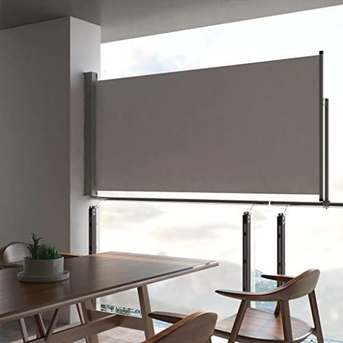 vidaXL Seitenmarkise 120×300 cm Grau - 2