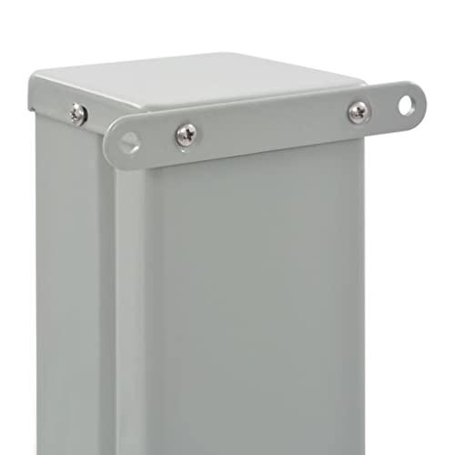 vidaXL Seitenmarkise 120×300 cm Grau - 6