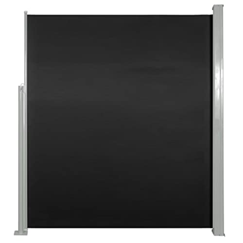 vidaXL Seitenmarkise 160x500 cm schwarz