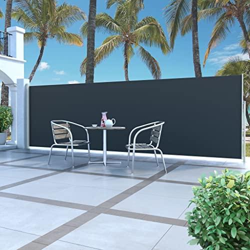 vidaXL Seitenmarkise 160×500 cm schwarz - 2