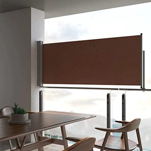 vidaXL Seitenmarkise 80×300 cm Schwarz - 3