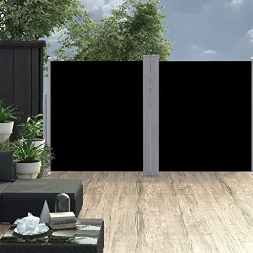 vidaXL Doppel-Seitenmarkise 170x600 cm Schwarz