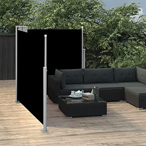 vidaXL Doppel-Seitenmarkise 170×600 cm Schwarz - 3